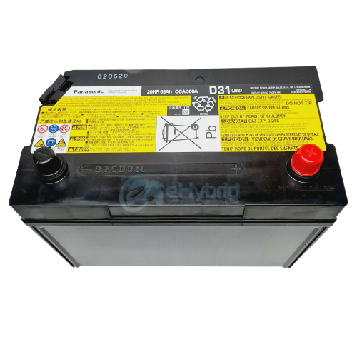 GENUINE LEXUS LS600H 12V BATTERY STARTER AUXILIARY BATTERY WITH SENSOR S75D31L