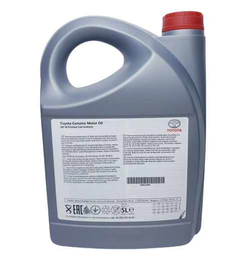 GENUINE TOYOTA 5W30 FULLY SYNTHETIC PREMIUM ENGINE MOTOR OIL 5 LITRES LOW ASH